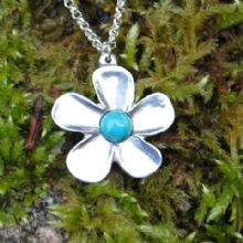 Buttercup flower pendant necklace  P64